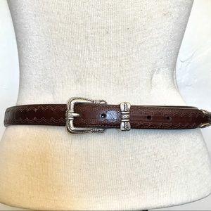 Brighton L (34) Brown Silver Cowgirl Belt